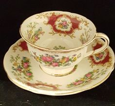 Vintage Foley Footed Bone China Tea Cup with by HathawayCandC