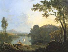 Znalezione obrazy dla zapytania richard wilson landscape with river valley