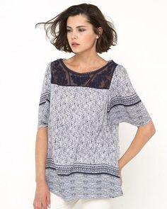 Blusa amplia, estampada - R edition SHOPPING PRIX