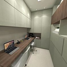 Home office integrado com sala de jantar