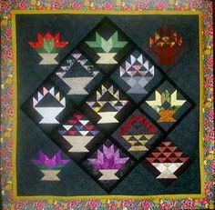 2014 Basket Case quilt BOM by Jackie Robinson  at Animas Quilts