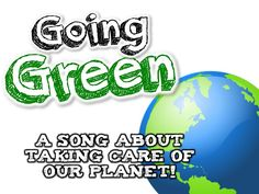 GOING GREEN! (Earth Day song for kids about the 3 R's- Reduce, Reuse, an... ask chn to discuss if they have tried any of the ways to recycle mentioned in the song. Make a blue green and yellow chart and have chn come up and stick a picture on the colour corresponding with which bin it goes in.