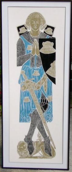 framed brass rubbing, beautiful.  I have several in my home.  My family and I used to create brass rubbings in England when it was still permitted