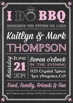 Chalk Board I do BBQ Invitation Fully von designbydetail auf Etsy