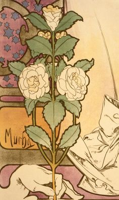 """Alphonse Mucha (detail) """