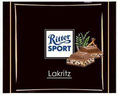 RITTER SPORT Fake Schokolade Lakritz