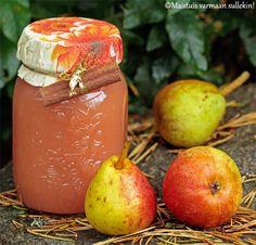 Maistuis varmaan sullekin!: Päärynähillo Wine Recipes, Preserves, Food Inspiration, Mango, Peach, Fruit, Manga, Preserve, Preserving Food
