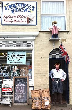 R J Balson  Son established In 1535 in Bridgeport, Dorset, England, Not only the oldest butchers in England but the oldest continuously trading family in the UK