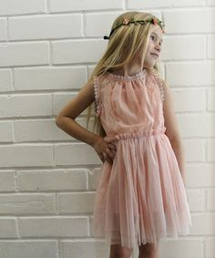 Another great find on #zulily! Light Pink Vintage Zoe Lace Dress - Girls by Knuckleheads #zulilyfinds