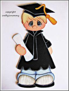 Graduate Boy Choose Hair Color Paper Piecing for Scrapbook Pages Sherri | eBay