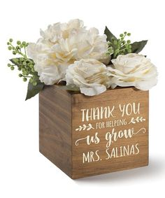 Another great find on #zulily! 'Thank You for Helping Me Grow' Personalized Wood Storage Box #zulilyfinds
