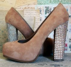 DIY bling heels by Home Heart Craft