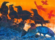 Julia Manning | Somerset Artist & Printmaker House of Lords woodcut