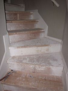 DIY carpet removal and stair refinishing