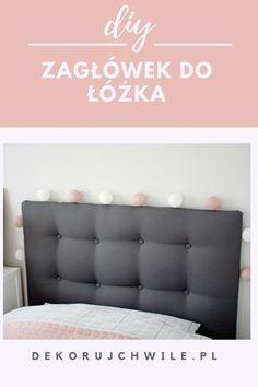 Prosty sposób na wykonanie pikowanego zagłówka do łóżka. #bedroom #diy #zaglowek #zagłówek #łóżko Diy Home Decor, Diy And Crafts, Shabby Chic, Couch, Bedroom, Handmade, Furniture, Bedhead, Gardening