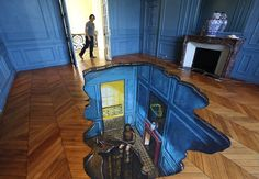 Embedding 3D art in your home. #design #art... Really, do you really want this in your house?