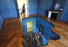 Embedding 3D art in your home. #design #art