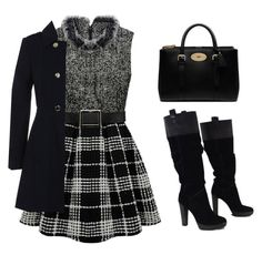 """""""winter dress"""" by tania-alves ❤ liked on Polyvore featuring BCBGMAXAZRIA, Mulberry and Miss Selfridge"""