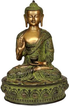 Blessing Buddha Robes Decorated with The Scenes of His Life Brass Statue * To view further for this item, visit the image link. Buddha Lotus, Buddha Zen, Gautama Buddha, Buddha Buddhism, Buddhist Monk, Buddhist Art, Buddha Birthday, Fairy Statues, Angel Statues