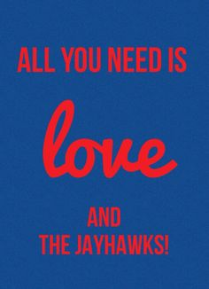 Look what I made!! Rock Chalk Jayhawks !