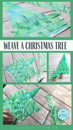 Recycle old artwork and reinforce basic weaving skills with this paper Christmas tree weaving. Use old recycled artwork to create this woven paper Christmas tree craft. A great introduction to weaving as well as a Christmas craft that you'll keep! Christmas Paper Crafts, Noel Christmas, Christmas Activities, Diy Christmas Ornaments, Christmas Projects, Holiday Crafts, Winter Christmas, Christmas Videos, Teacher Christmas Card