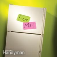 How to Repair a Refrigerator .Simple fixes for the four most common refrigerator problems: an ice-maker breakdown, water leaking onto the floor, a cooling failure and too much noise. Home Fix, Diy Casa, Diy Home Repair, Appliance Repair, Home Repairs, Do It Yourself Home, Diy Home Improvement, Just In Case, The Help