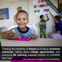 Outreach360's Dare to Dream program helps disadvantaged children visualize a future without poverty, through a powerful educational program.