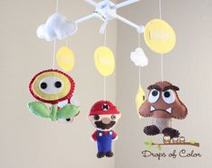 Baby Crib Mobile - Baby Mobile - Mario Brothers Mobile Super Mario Bros Mobile (You can pick other characters)