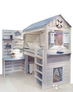 Кровать чердак (кровать-домик)