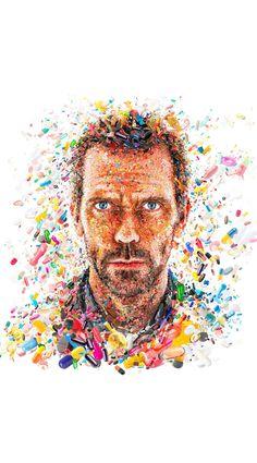 House  Hugh Laurie art