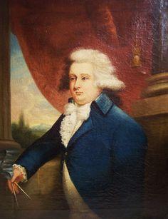 RARE American Mather Brown 1780s Portrait Prominent Mason Oil on Canvas | eBay