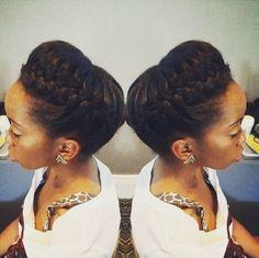 CurlsUnderstood.com Crown braid