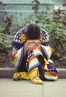 This photo of Arlette Loudhawk, a member of the Oglala Lakota tribe, was taken by Bancroft in 1978 during The Longest Walk for Survival in Washington D.C.