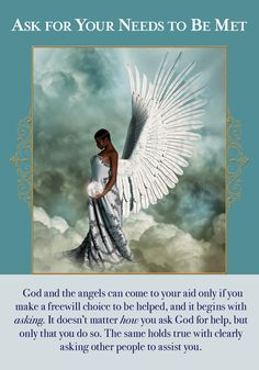 Oracle Card Ask For Your Needs To Be Met Doreen Virtue - Official Angel Therapy Website Affirmations, Angel Guidance, Spiritual Guidance, Angel Numbers, Angels Among Us, Angel Cards, Guardian Angels, Guardian Angel Quotes, Oracle Cards