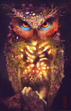 Univers féérique - illustrations-blog:     nature Owlby GONY-04