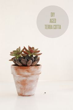 DIY Aged terra cotta with baking soda