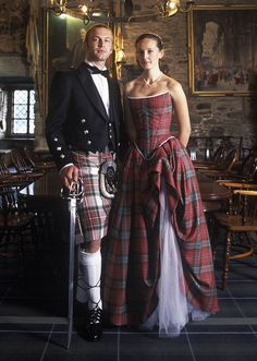 Lochcarron Custom Tartan Wedding Dress, Tartan Gown