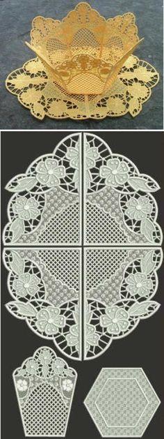 Advanced Embroidery Designs - Primrose Bowl and Doily Set