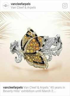 Van Cleef onyx ,orange garnets,yellow sapphires and diamonds bracelet