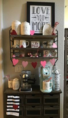 Valentine's Day coffee bar with Rae Dunn