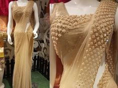 Net sarees blouses are trending as they add this feminity, grace and elegance to your overall style. Here we've created the latest net saree blouse Netted Blouse Designs, Fancy Blouse Designs, Bridal Blouse Designs, Designs For Dresses, Saree Blouse Designs, Fancy Sarees Party Wear, Saree Designs Party Wear, Indian Bridal Outfits, Indian Fashion Dresses