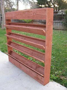 Rustic Planters, Outdoor Planters, Garden Planters, Garden Beds, Garden Walls, Wall Planters, Privacy Planter, Vertical Planter, Vertical Pallet Garden