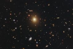 The giant elliptical galaxy in the centre of this image, taken by the NASA/ESA Hubble Space Telescope, is the most massive and brightest member of the galaxy cluster Abell 2261.
