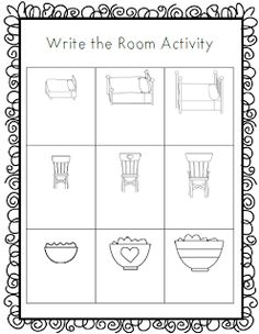 Goldilocks and the Three Bears- Write the Room Activity
