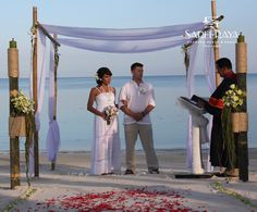 """Exchanging """"I Do's"""" Under a Wedding Canopy Will Give You The Most Beautiful Photos to Cherish for a Lifetime."""