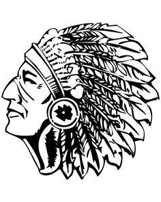 American indian chief vector illustration cartoons and Fighting Illini Chief Logo Fighting Illini Mascot Illini Basketball Coloring