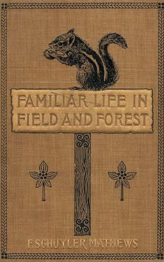Schuyler Mathews, Familiar life in field and forest; the animals, birds, frogs, and salamanders couverture de livre Book Cover Art, Book Cover Design, Book Design, Book Art, Vintage Book Covers, Vintage Books, Vintage Library, Old Books, Antique Books