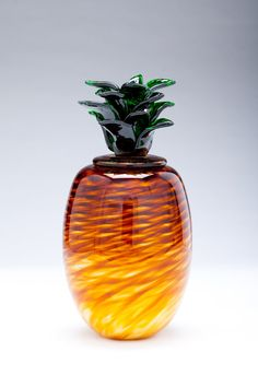 Pineapple: Geoff Lee: Art Glass Sculpture