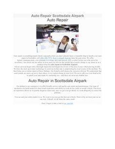 http://rorysairparkautotek.com/auto-repair-scottsdale-airpark/  Auto repair is something people dread, especially when you don't already know a reputable shop to handle your auto repair in Scottsdale, call (480) 500-7974. Rory's Airpark Autotek takes the pain away. We offer honest communication, cost estimates in writing, and experienced, ASE certified technicians who strive for excellence. Just check out our online reviews and you will see that people have positive things to say about us as…