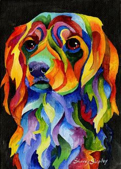 cocker spaniel golden retriever painting - Google Search